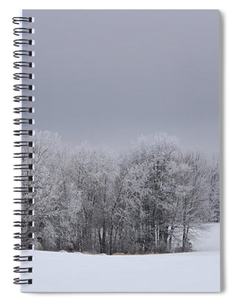 Frosty Farm Fields Spiral Notebook