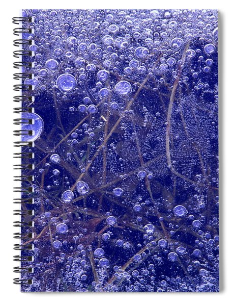 Frozen Bubbles In The Merced River Yosemite Natioinal Park Spiral Notebook