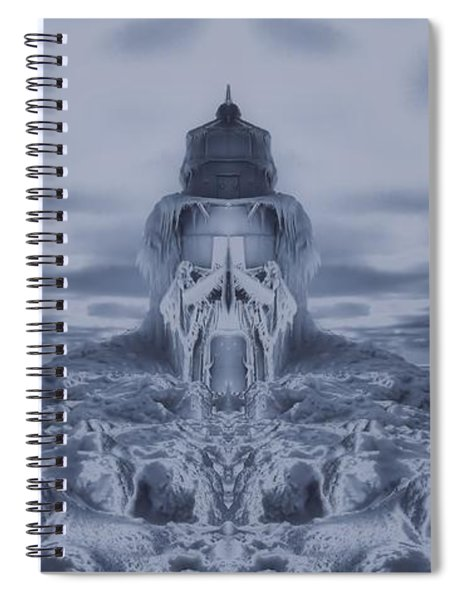Frozen Dream On The Coast Spiral Notebook