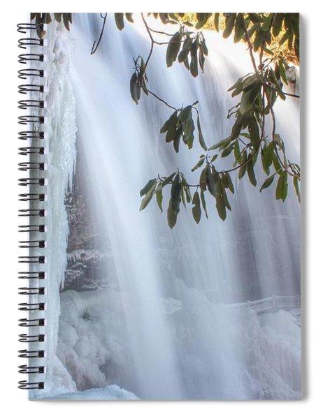 Frozen Dry Falls Spiral Notebook