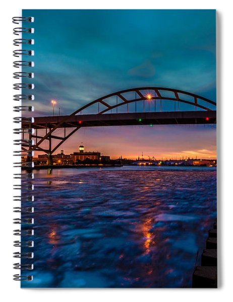 Frozen Hoan Bridge Spiral Notebook