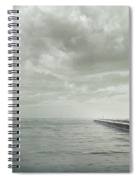 Frozen Jetty Spiral Notebook