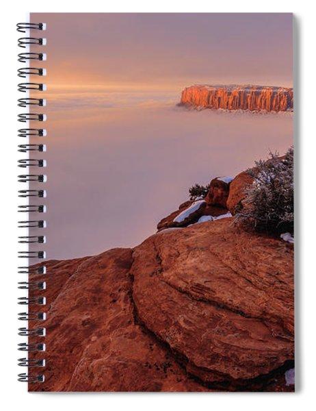 Frozen Mesa Spiral Notebook