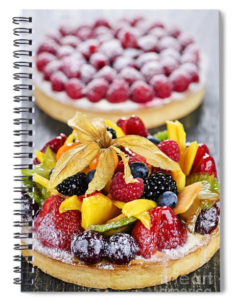Fruit And Berry Tarts Spiral Notebook