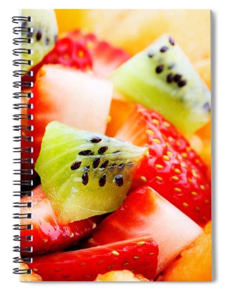 Fruit Salad Macro Spiral Notebook
