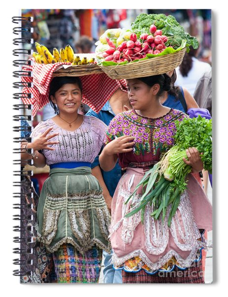 Fruit Sellers In Antigua Guatemala Spiral Notebook