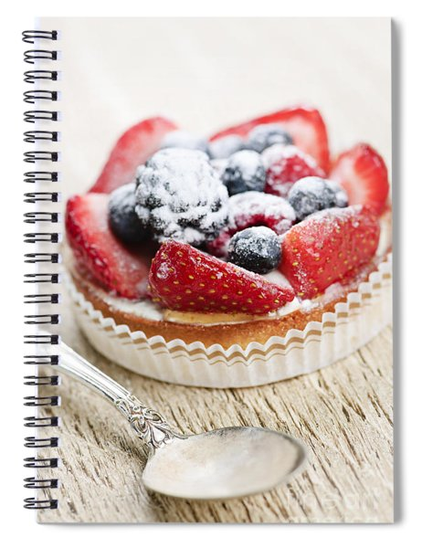 Fruit Tart With Spoon Spiral Notebook