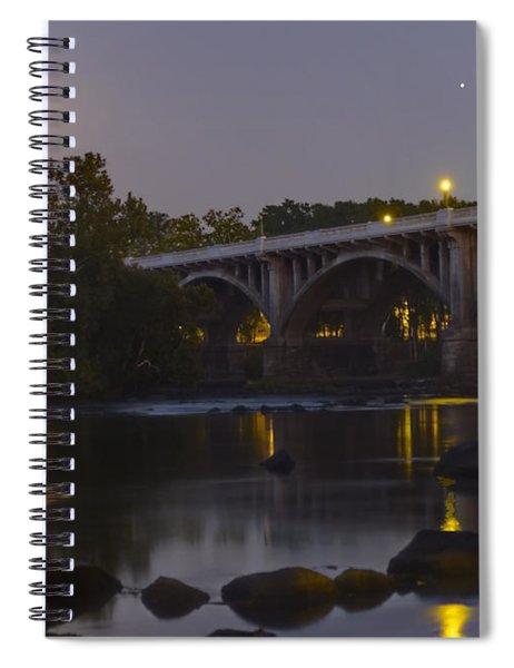 Full Moon And Jupiter-1 Spiral Notebook
