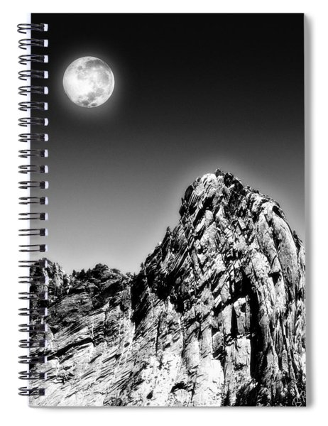 Full Moon Over The Suicide Rock Spiral Notebook