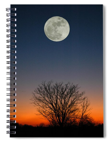 Full Moon Rising Spiral Notebook