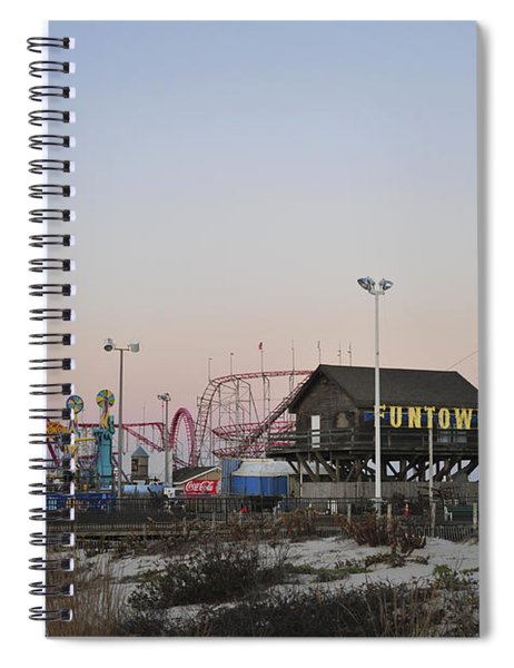 Fun At The Shore Seaside Park New Jersey Spiral Notebook