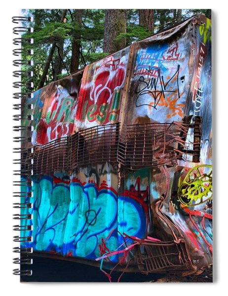 Function Junction Train Wreckage Spiral Notebook