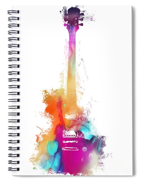 Funky Colored Guitar Spiral Notebook