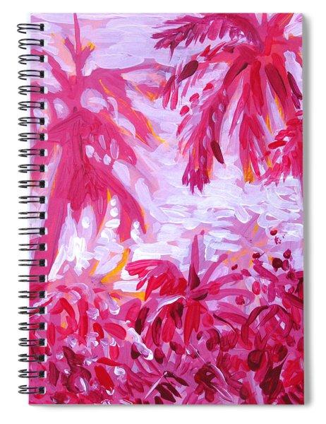 Fuschia Landscape Spiral Notebook