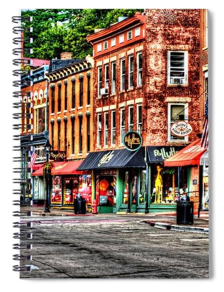 Galena Main Street Early Summer Morning Spiral Notebook