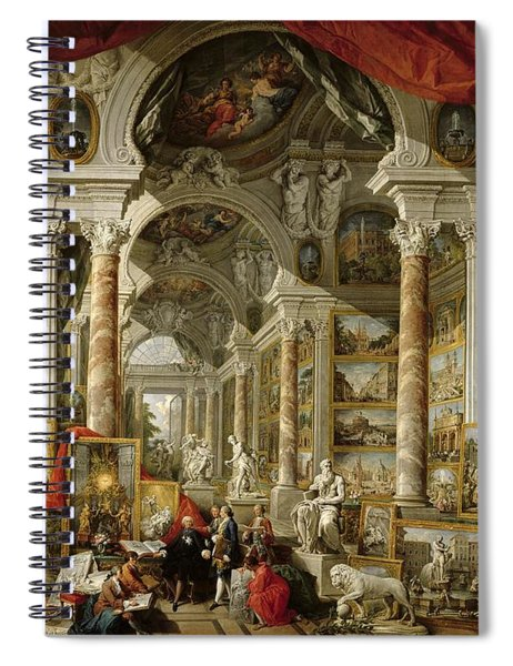 Gallery With Views Of Modern Rome Spiral Notebook