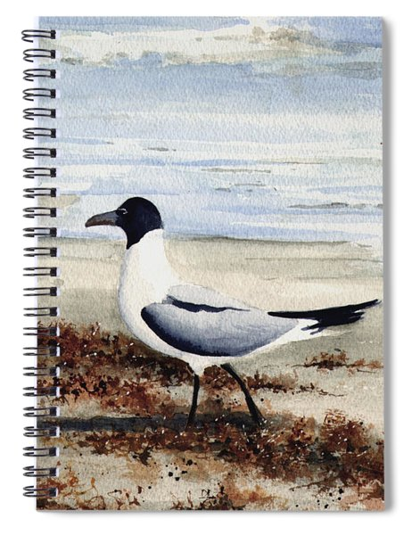 Galveston Gull Spiral Notebook
