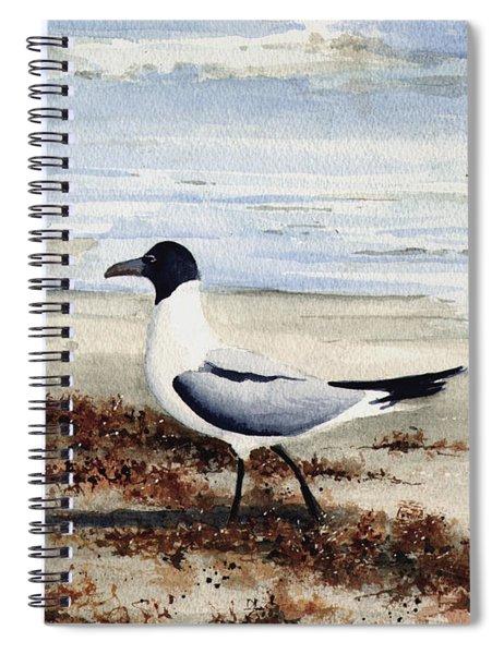 Galveston Gull Spiral Notebook