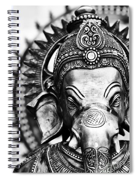 Ganesha Monochrome Spiral Notebook
