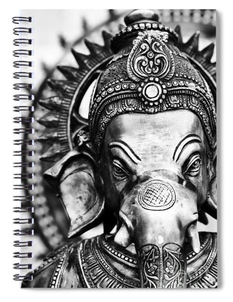 Ganesha Monochrome Spiral Notebook
