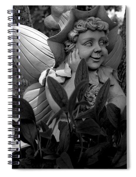 Garden Fairy Statue Spiral Notebook