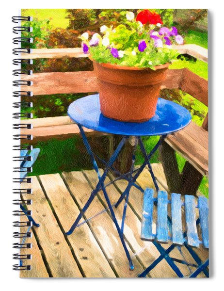 Spiral Notebook featuring the photograph Garden Party by Garvin Hunter