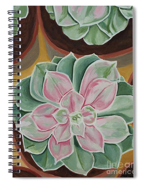 Garden Rossette Spiral Notebook