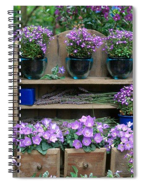 Garden Still-life With Purple Flowers Spiral Notebook