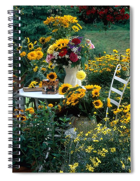 Garden With Table And Chair Spiral Notebook