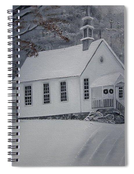 Gates Chapel - Ellijay - Signed By Artist Spiral Notebook