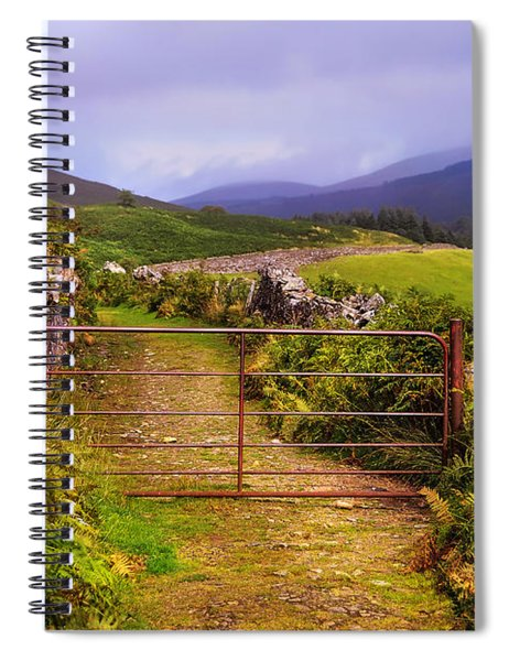 Gates On The Road. Wicklow Hills. Ireland Spiral Notebook