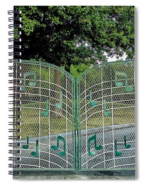 Gates To Graceland Spiral Notebook