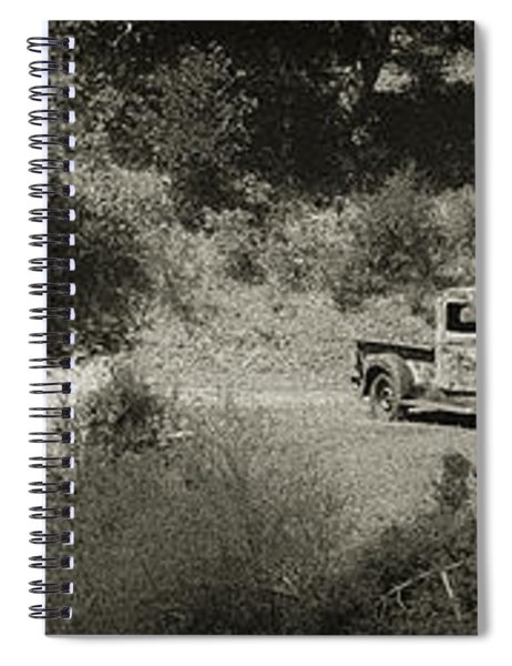 Gathering Black And White Spiral Notebook