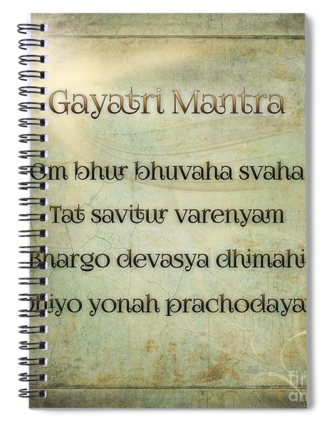Gayatri Mantra Spiral Notebook