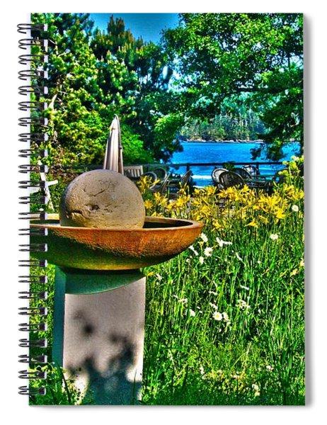 Gazing Ball Spiral Notebook