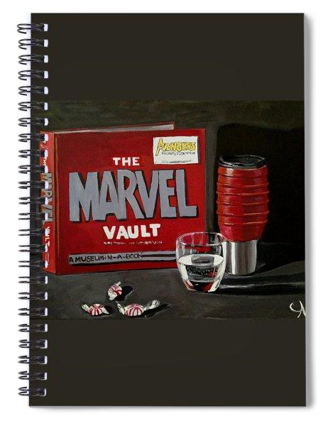 Marvel Comic's Still Life Acrylic Painting Art Spiral Notebook