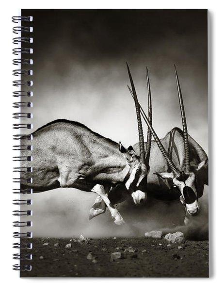 Gemsbok Fight Spiral Notebook