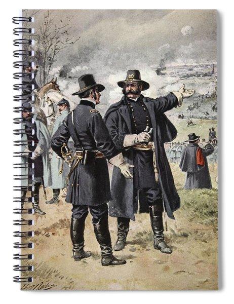 General Burnside At The Battle Spiral Notebook