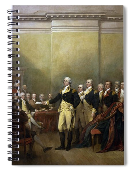 General George Washington Resigning His Commission Spiral Notebook