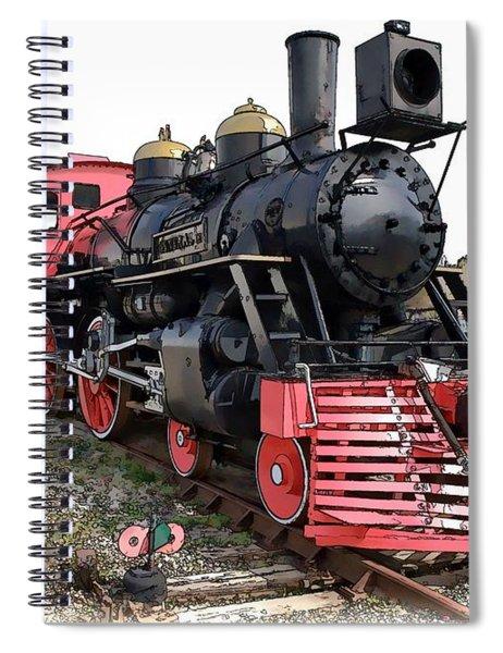 General II - Steam Locomotive Spiral Notebook