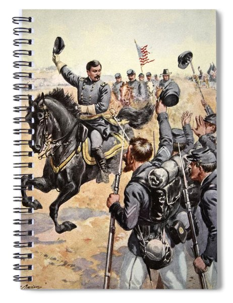General Mcclellan At The Battle Spiral Notebook