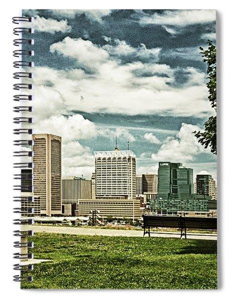General Smith Overlooks Baltimore Harbor Spiral Notebook
