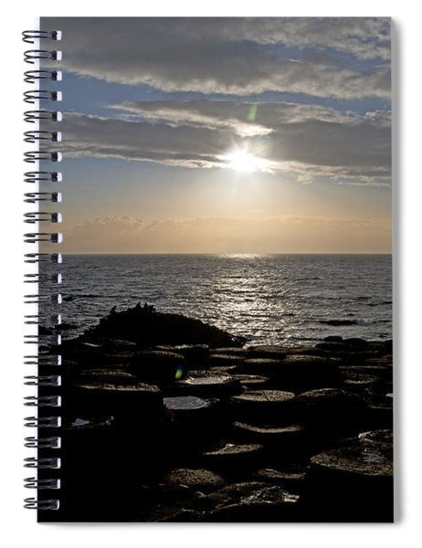 Genius In The Light -- Giant's Causeway -- Ireland Spiral Notebook
