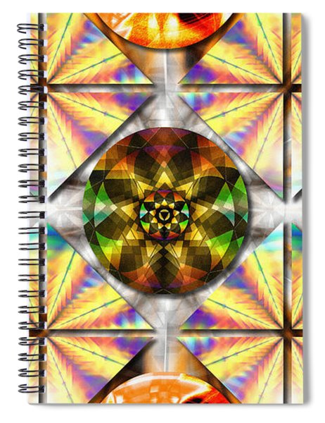 Geometric Dreamland Spiral Notebook
