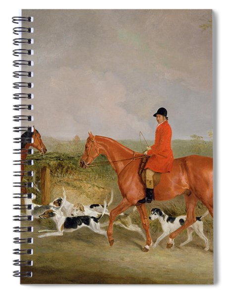 George Mountford, Huntsman To The Quorn, And W. Derry, Whipper-in, At John Ogaunts Gorse, Nr Melton Spiral Notebook