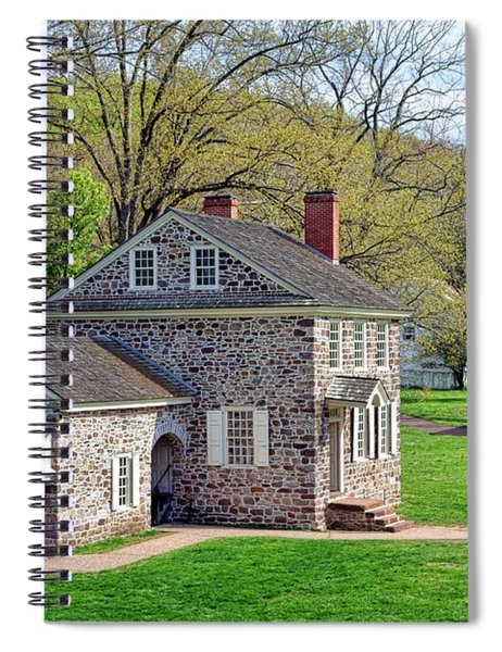 George Washington Headquarters At Valley Forge Spiral Notebook