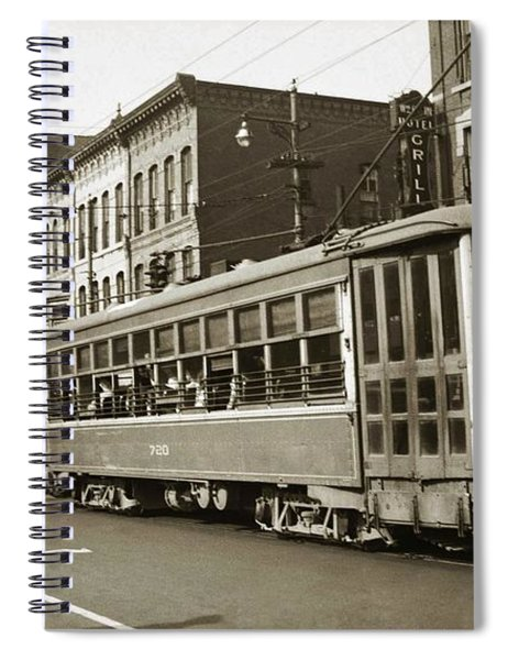Georgetown Trolley E Market St Wilkes Barre Pa By City Hall Mid 1900s Spiral Notebook