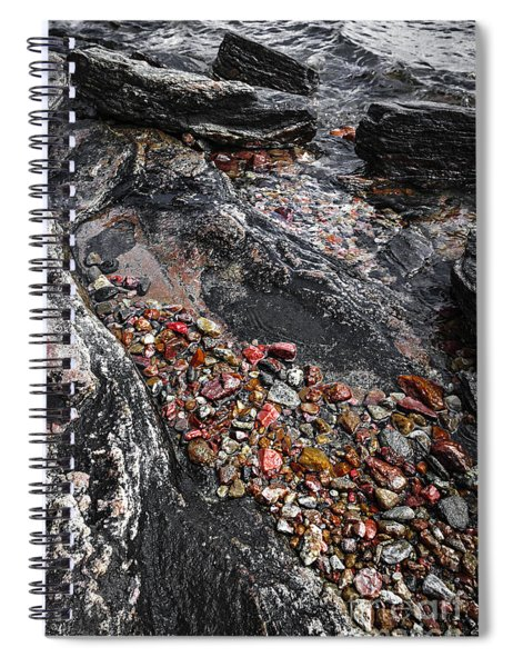 Georgian Bay Rocks Abstract I Spiral Notebook