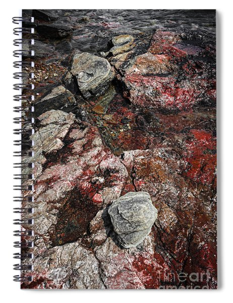 Georgian Bay Rocks Abstract II Spiral Notebook