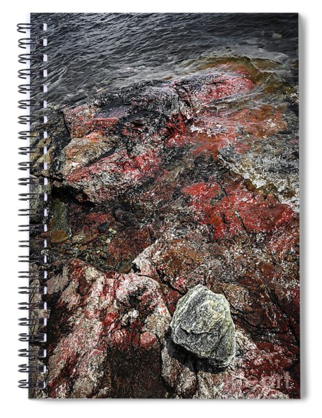 Georgian Bay Rocks Abstract IIi Spiral Notebook